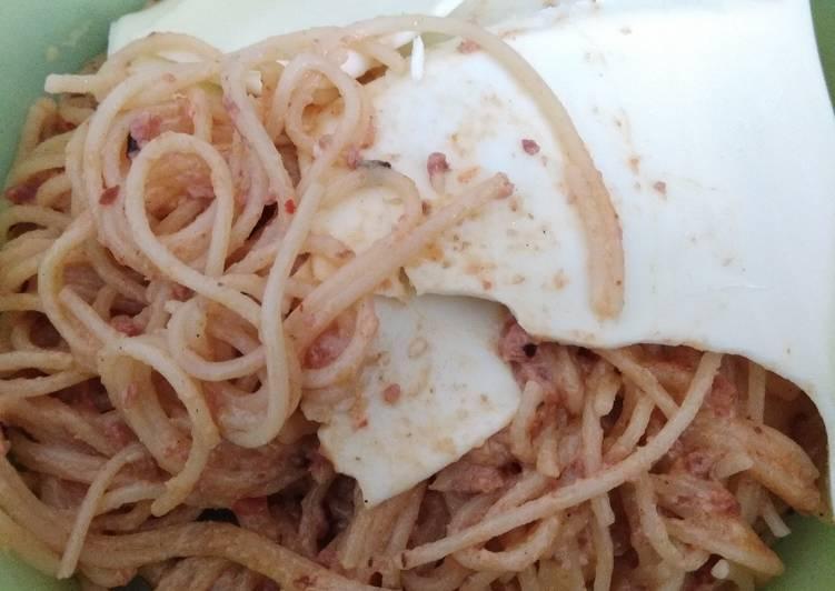Creamy Spaghetti Wijen With Cheese ala Anak Kost