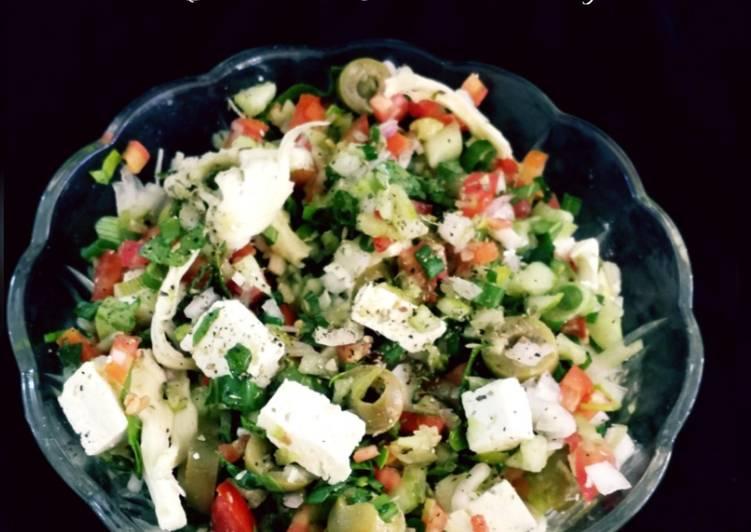 Recipe of Super Quick Homemade Salad with Italian dressing
