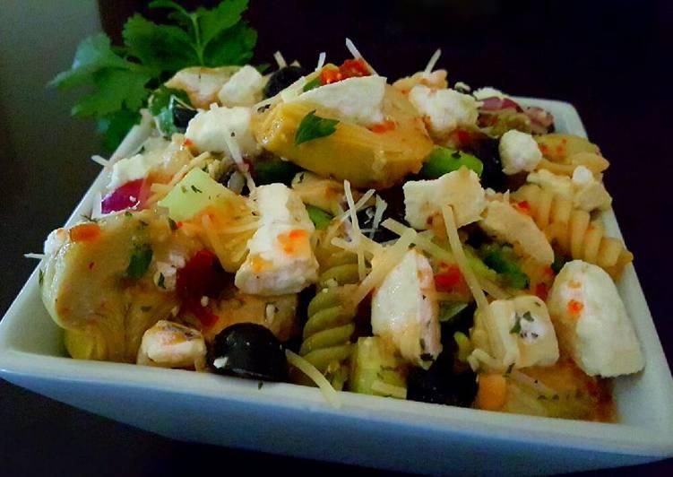 Mike's Chilled Artichoke Feta Pasta Salad