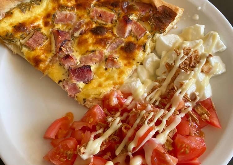 Quiche légère + tomate Mozza 🍅