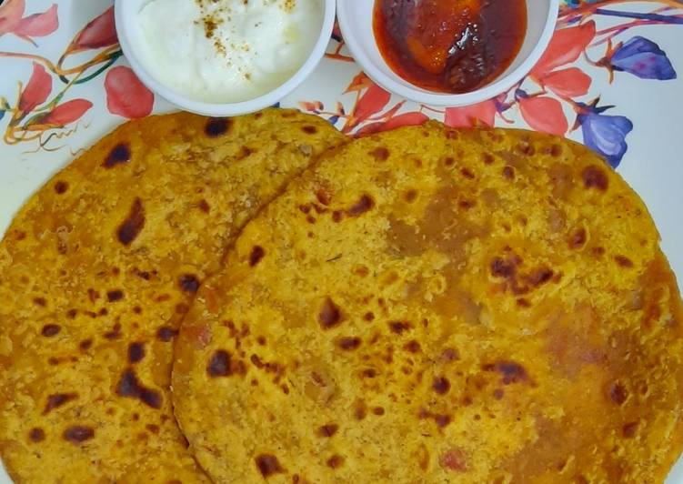 Recipe of Quick Tomato paratha