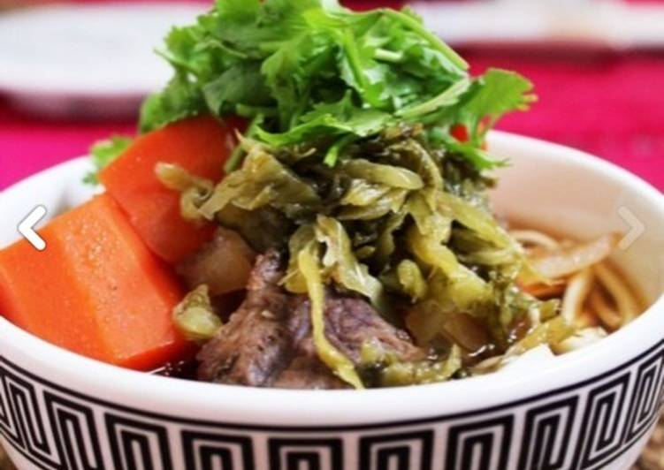 Taiwan Beef noodle easy cooked by da-dong pot