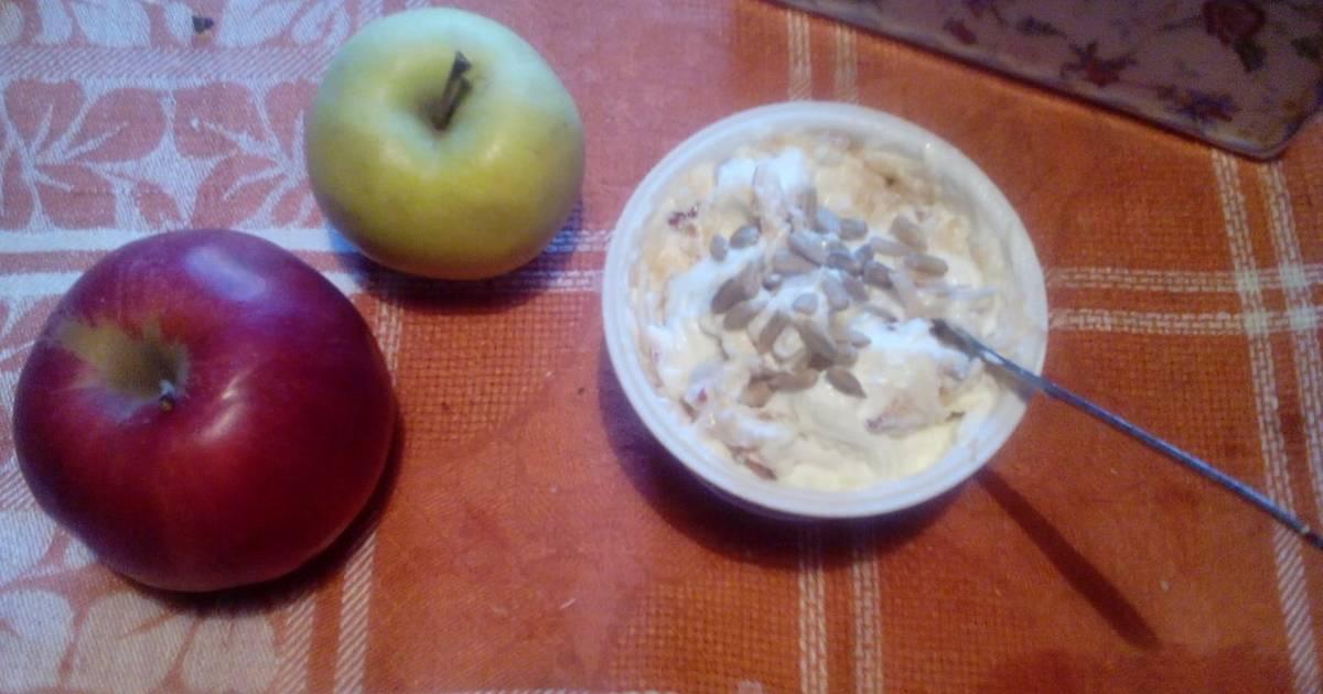Яблоки с творогом для похудения