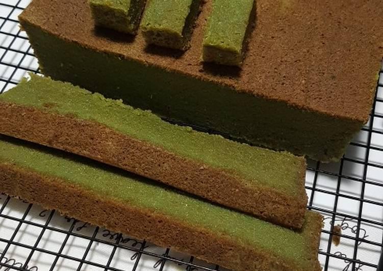 Recipe of Super Quick Homemade Green Moss Steamed Cake (Kek Lumut)