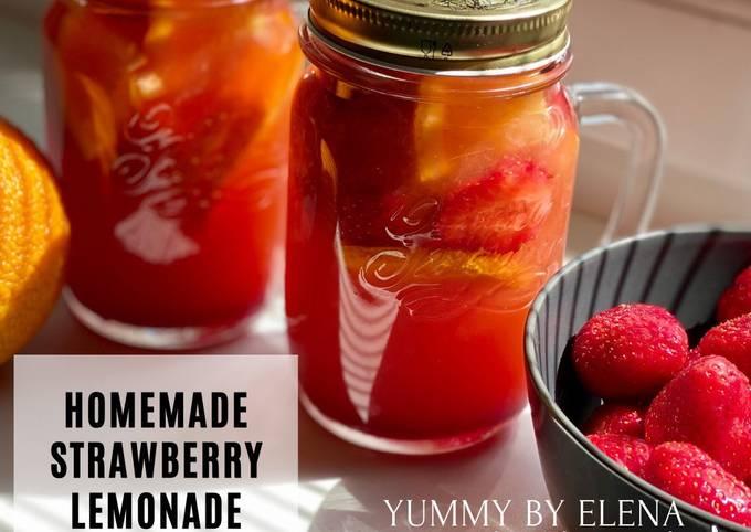 How To Make YUMMY Homemade Strawberry Lemonade