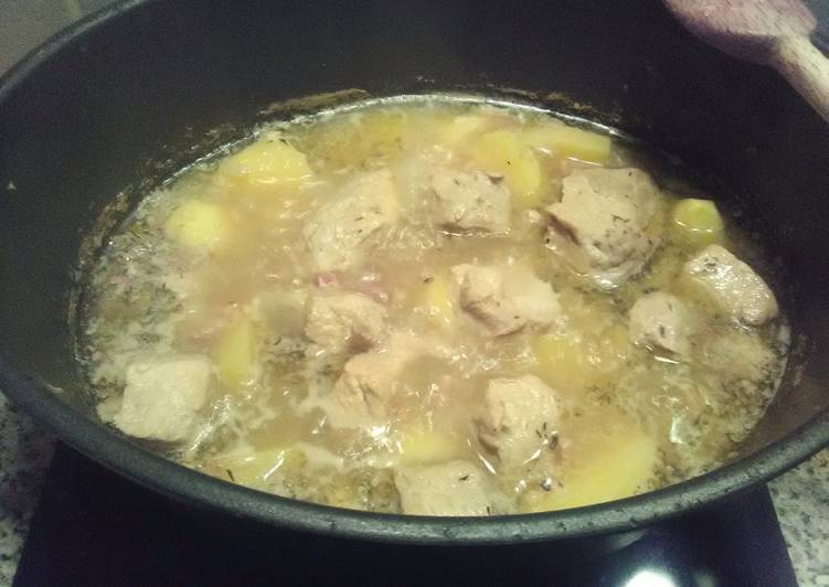 Recette De Sauté de porc au cidre mielé