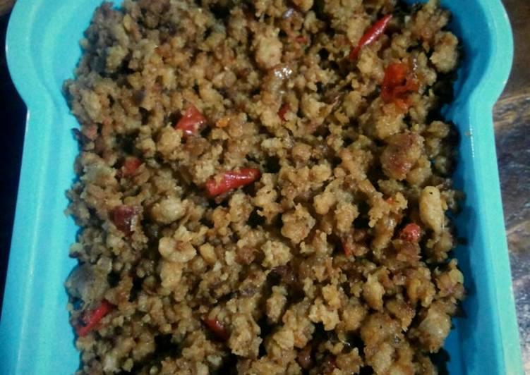 Oncom untuk taburan serabi atau nasi tutug oncom