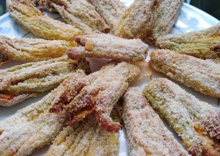 Ricetta Fiori di zucchina al forno