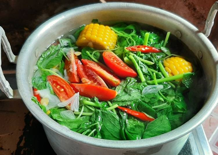 Resep Sayur Bening Bayam Tanpa Minyak Oleh Yulia Fahlevi Cookpad