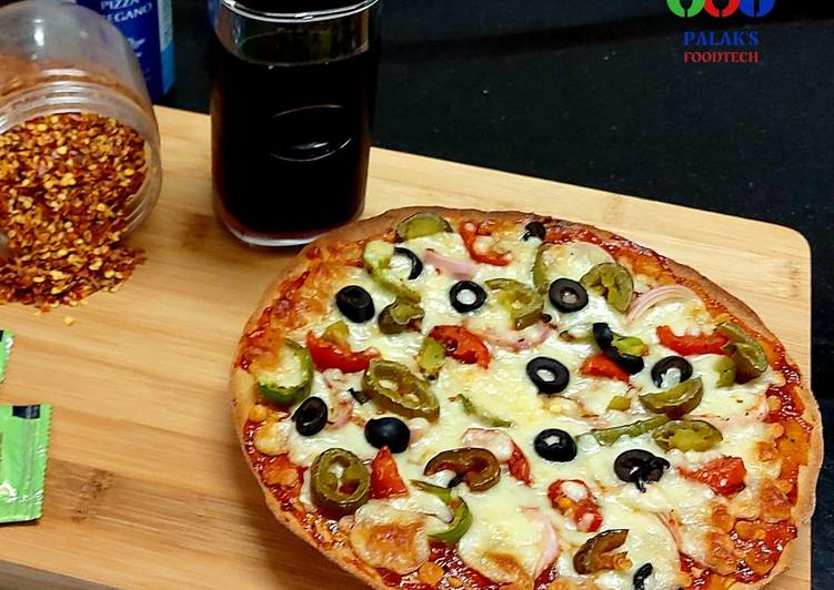 Recipe of Super Quick Homemade No yeast Pizza(of whole wheat flour)