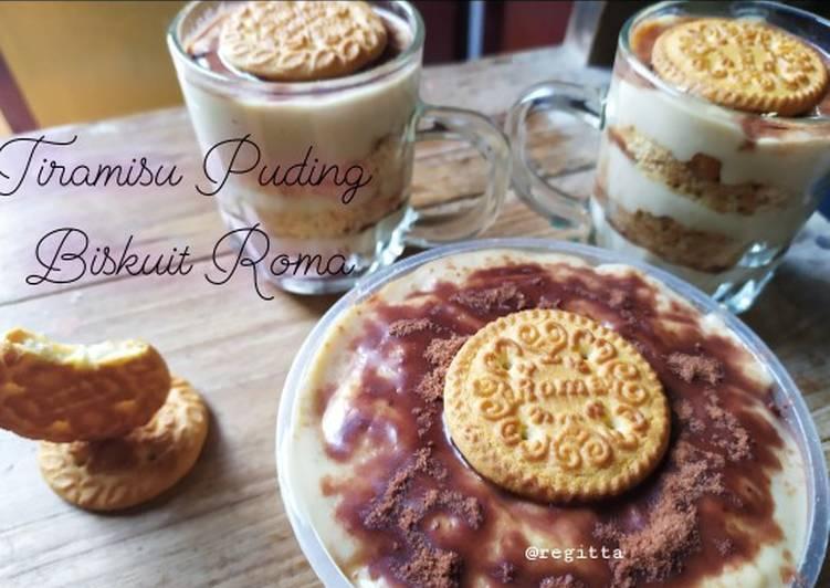 Tiramisu Puding Biskuit Roma