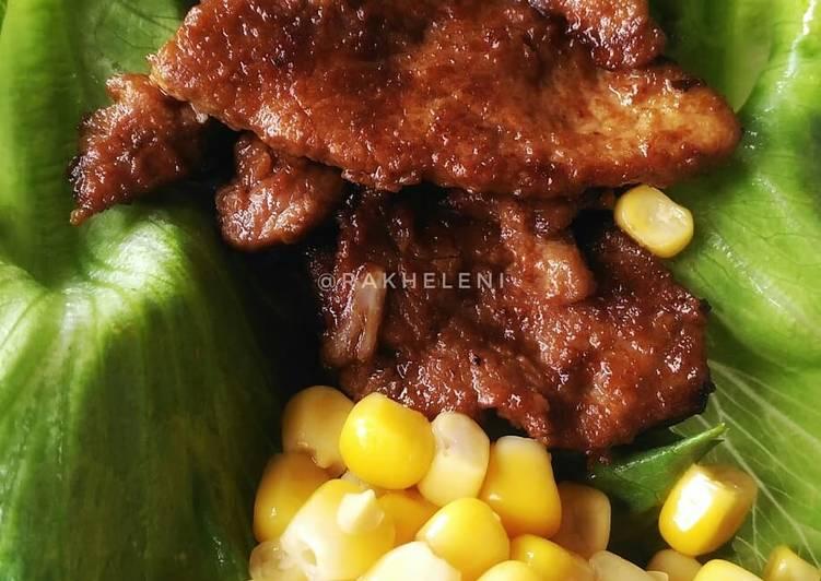 Daging sapi panggang Saus Barbeque