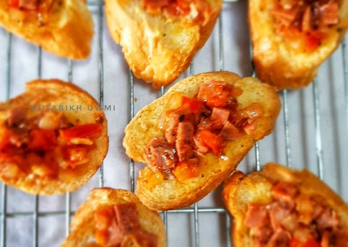 Beef Bruschetta Simple - projectfootsteps.org