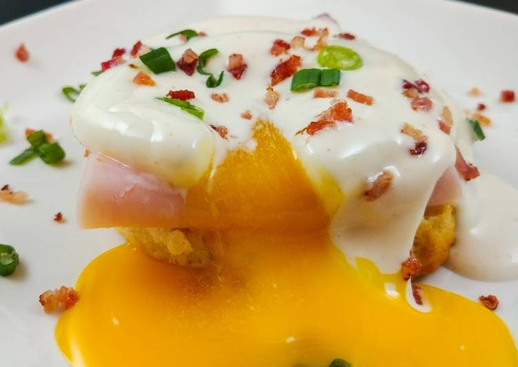 Easiest Way to Make Yummy Poached Eggs with Lemony Mayo Sauce