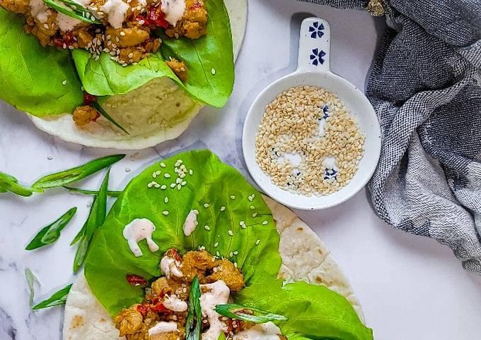 Chicken Teriyaki Lettuce Tacos
