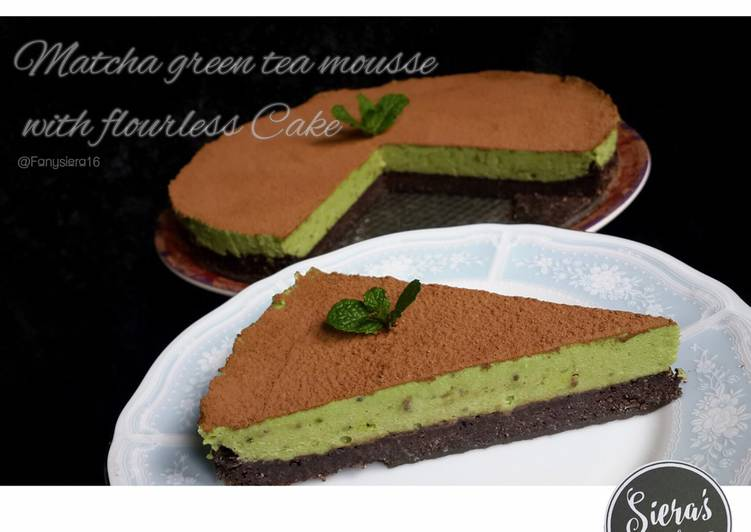 Matcha Greentea Mousse with Chia Seed