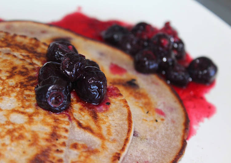15 Minute Recipe of Special Frozen Berries Pan Cake
