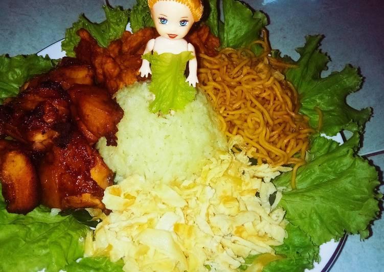 Tumpeng mini anak barbie