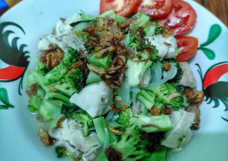 Ca brokoli mix dada ayam