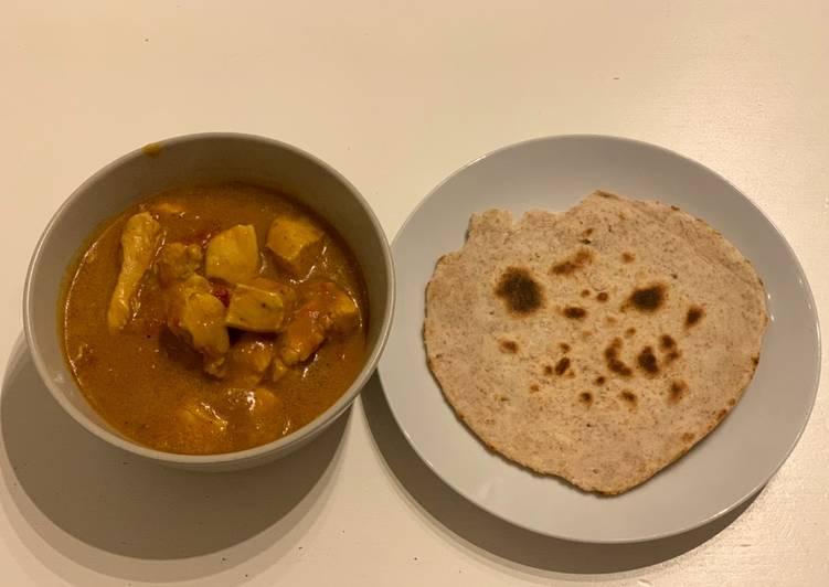 Chicken Tikka Masala (Curry di pollo) e Chapati