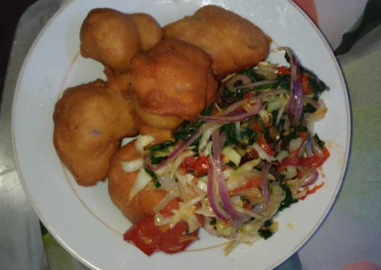 Simple Way to Prepare Super Quick Homemade Akara and assorted steamed vegetable