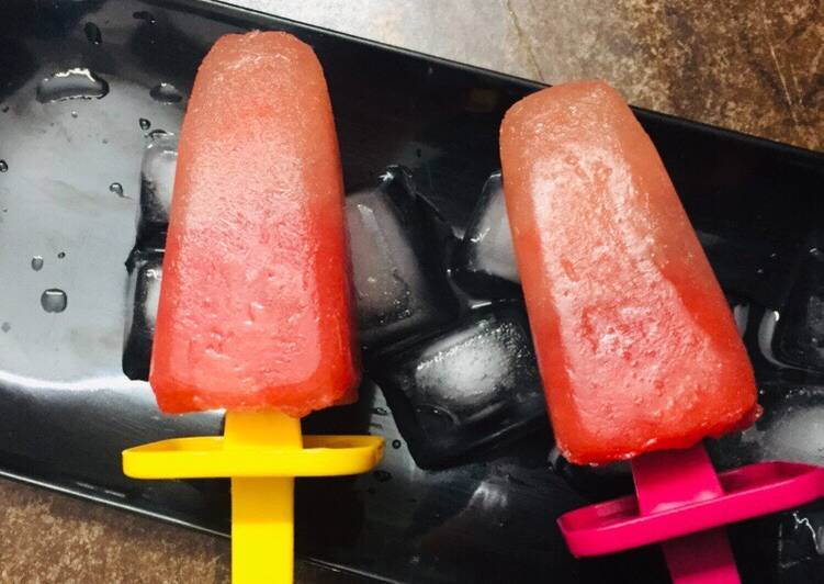 Watermelon Lemonade Popsicles