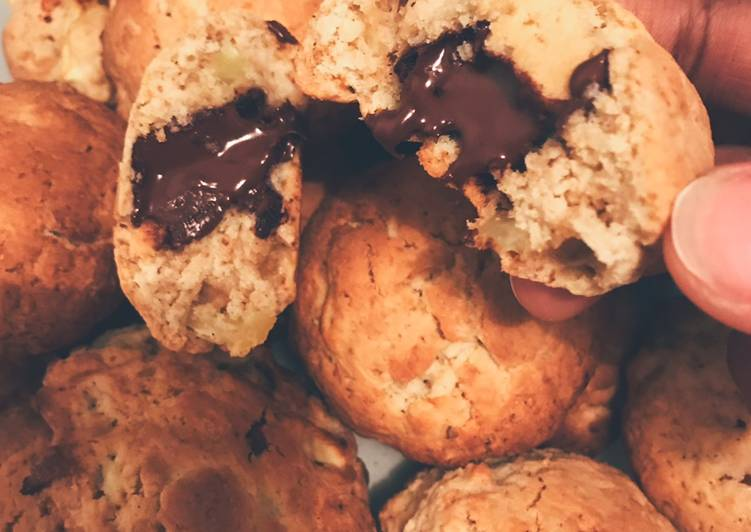Comment faire Faire Délicieux Cookies pommes/cannelle coeur choco