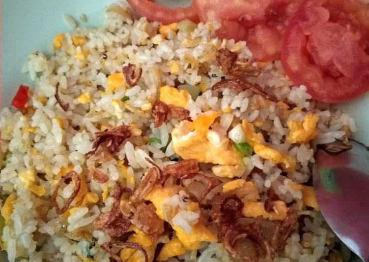 Nasi Goreng Teri Sederhana