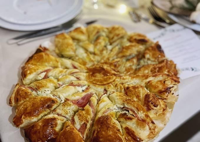 Étoiles feuilletée : Boursin/Jambon & Roquefort/poires