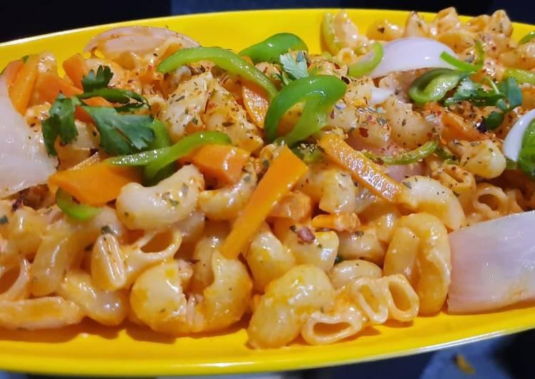 Peri veggies mayo pasta