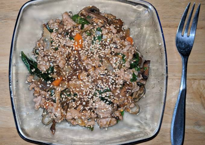 Thai Basil Glass Noodles With Beef