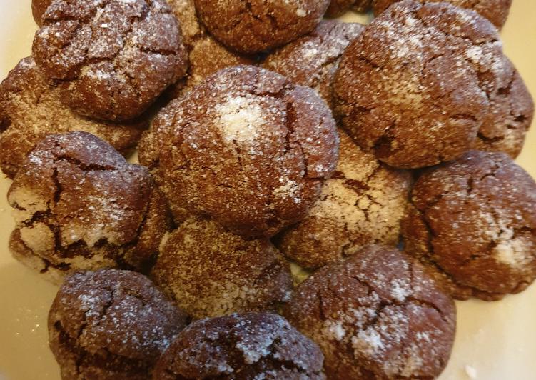 Biscotti morbidi al doppio cioccolato