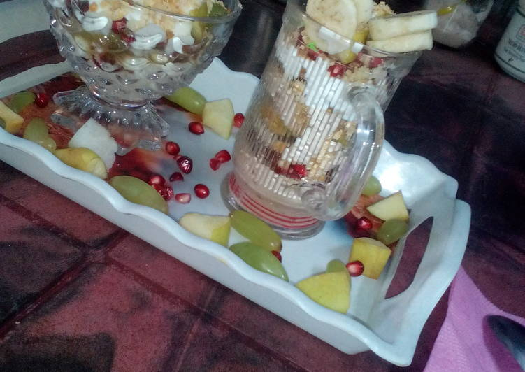 Recipe of Speedy Fruit parfait (2type)
