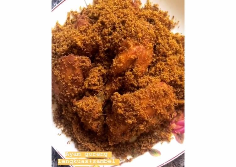 Resep Ayam goreng lengkuas + sambal korek, Bikin Ngiler