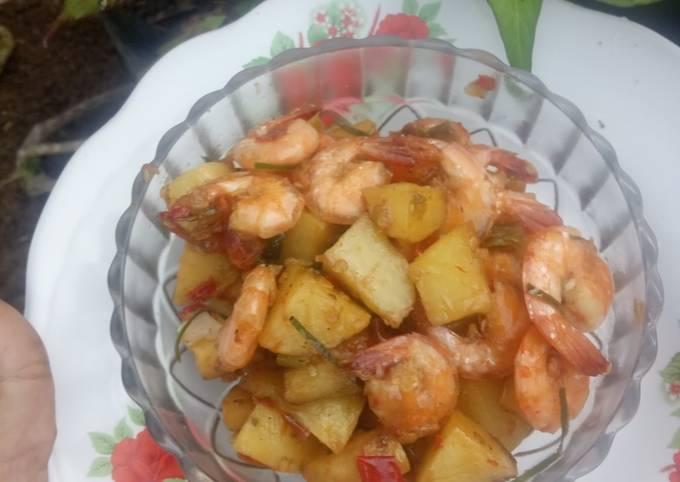 62. Balado kentang udang (daun jeruk)