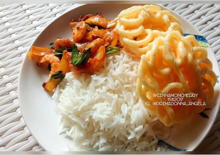 Udang Balado (Prawns with Chili Sauce)