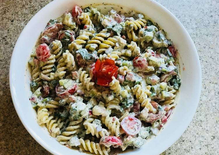 Step-by-Step Guide to Make Quick #Football season #Pasta salad