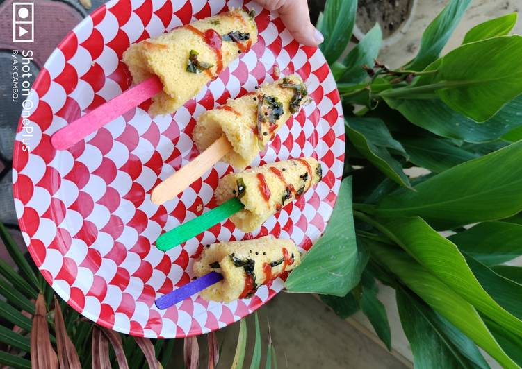 Simple Way to Make Favorite Dhokla popsicles