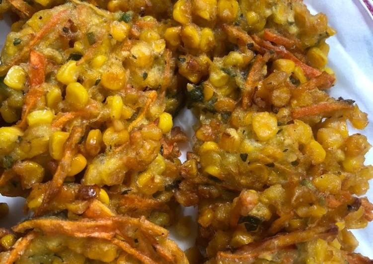 Bakwan goreng jagung wortel