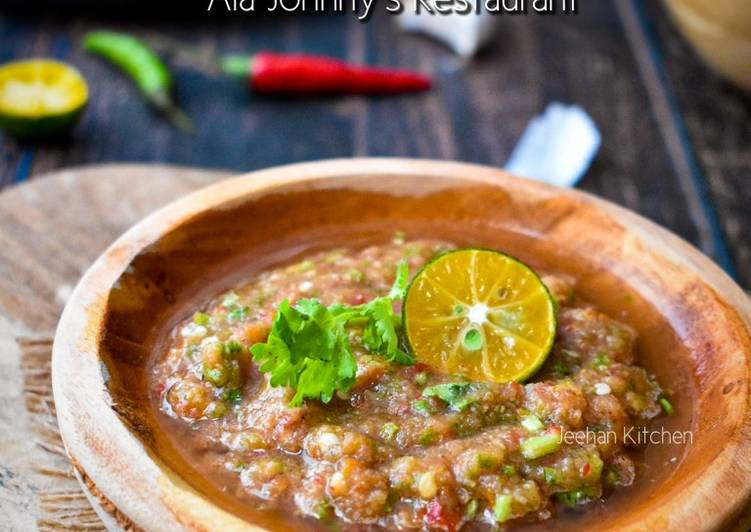 Sambal Belacan Ala Johnny's Restaurant
