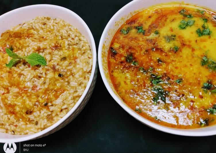 Moong Dal khichdi with Punjabi Dal Tadka/ Punjabi Risotto