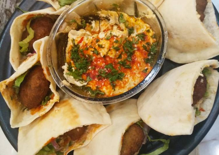 How to Make Homemade Falafel with hummus