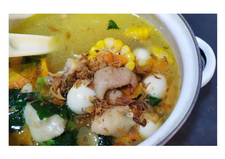 Sop Ayam jagung & telur puyuh bydeesawitri