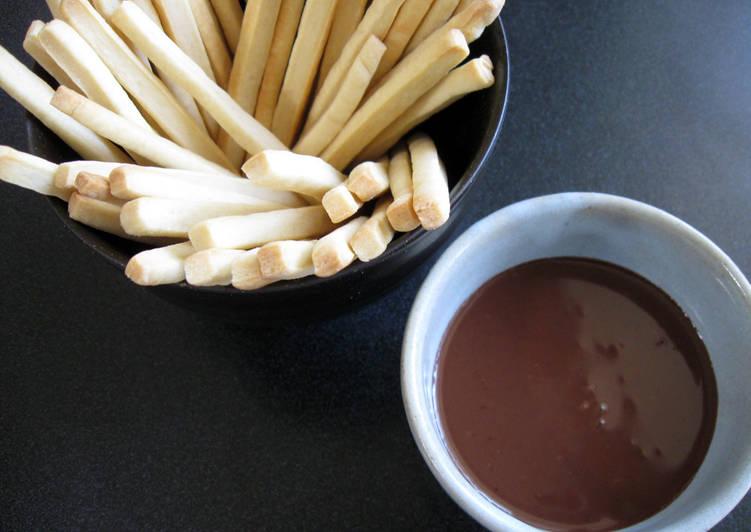 Recipe of Homemade Biscuit Sticks with Chocolate Ganache