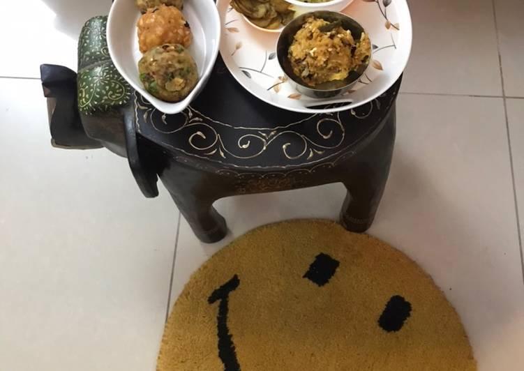 Aloo (Potato) Bharta: 4 different types  Satwik Potato in Desi Ghee & Potato Fry (Roundels)