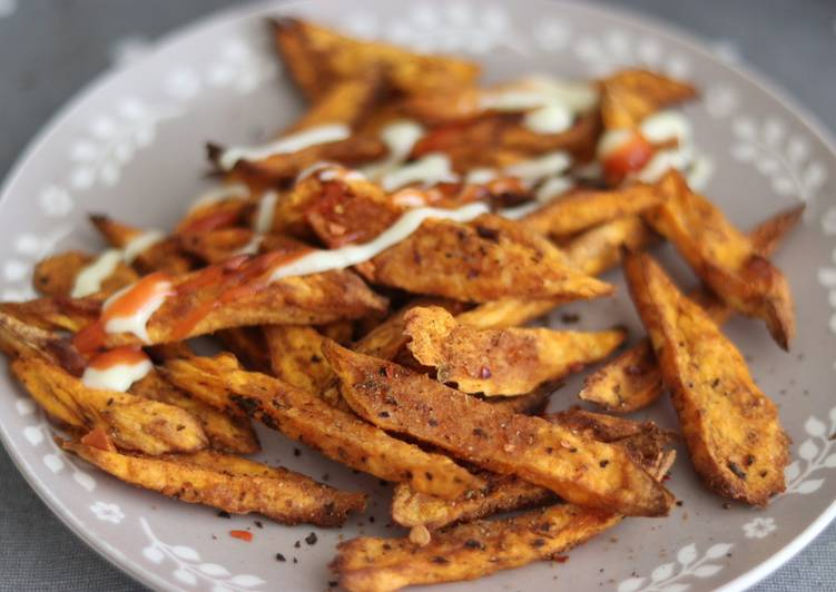 Recipe of Homemade Air fry sweet potato spiced chips