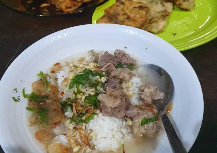 Soto daging bening ala solo