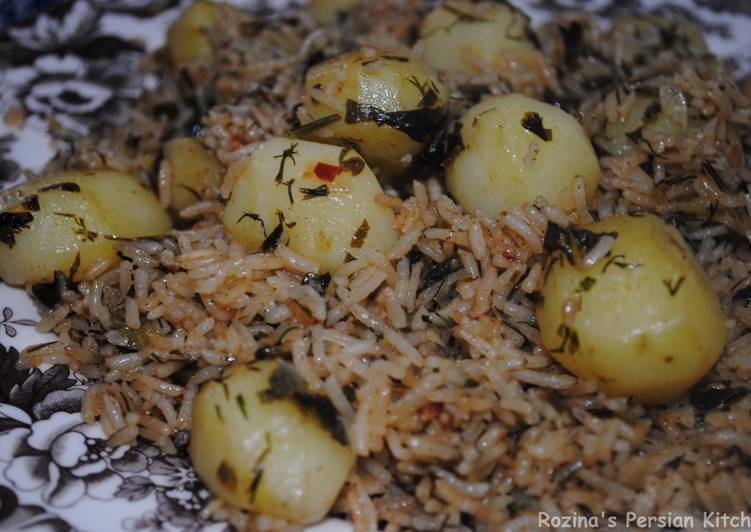 Herbed rice with potatoes