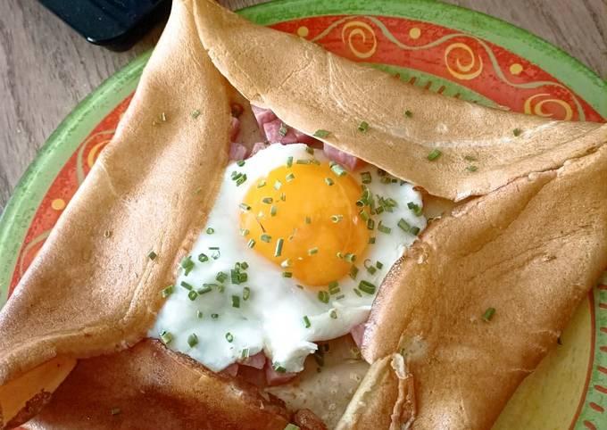 Crêpe œuf/jambon/fromage au Cook Expert