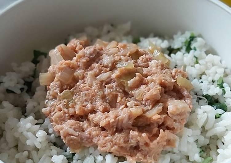 Nasi Goreng Bayam With Salmon Teriyaki